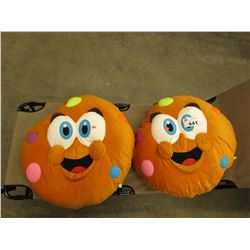 2 PLUSH MEDIUM SIZE COOKIE STUFFIES