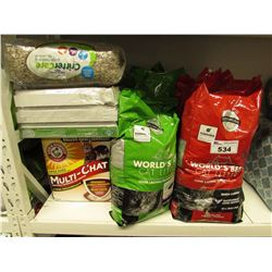 LARGE LOT OF CAT LITTER, PADS & CRITTER PAPER BEDDING