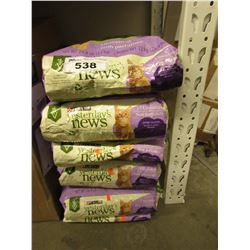 5 LARGE 26.4 LB BAGS OF PURINA YESTERDAYS NEWS CAT LITTER