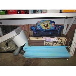 LARGE LOT OF ASSORTED HOUSEHOLD ITEMS & INTEX AIR MATTRESS