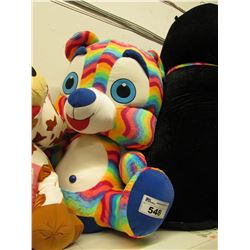 LARGE PLUSH RAINBOW BEAR STUFFIE