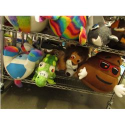 SHELF LOT OF 4 ASSORTED PLUSH STUFFIES