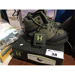PAIR OF HODGMAN FISHERMAN'S FELT WADER BOOTS SIZE 11
