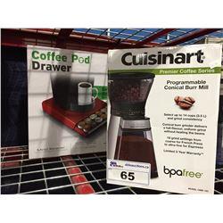 CUISINART PREMIUM COFFEE GRINDER & COFFEE POD DRAWER