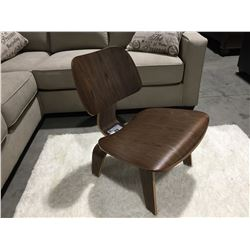 MID CENTURY INSPIRED BENT WOOD ACCENT CHAIR