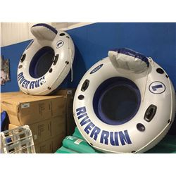 2 INFLATABLE WATER SPORT TUBES