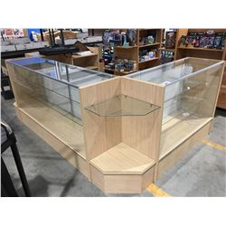 5PCS COMMERCIAL RETAIL LIGHTED DISPLAY SHOWCASE