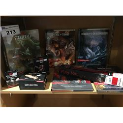 GROUP OF 9 DUNGEONS & DRAGON  FANTASY ROLL BOOKS & CARDS (FACTORY SEALED)