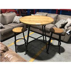 3PCS BISTRO SET -TABLE &  2 CHAIRS