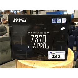 MSI MOTHER BOARD Z370 PRO