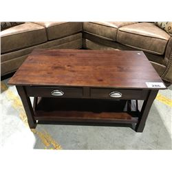 2 DRAWER CONTEMPORARY COFFEE TABLE