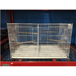 LARGE WHITE BIRD CAGE