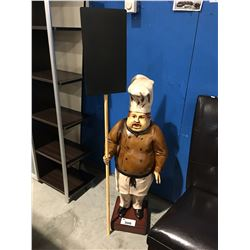 3' CHEF WITH MENU BOARD STANDING FIGURE