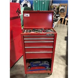 WATERLOO SHOP SERIES ROLLING TOOL CABINET & CONTENTS