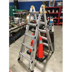 MASTERCRAFT ALUMINUM COMBINATION LADDER