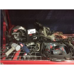 GROUP OF 8 ASSORTED POWER TOOLS