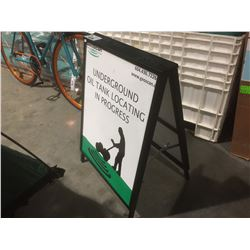 METAL CONSTRUCTED ADVERTISING SANDWICH BOARD