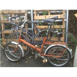 GROUP OF 3 BIKES - BIANCHI, NORDCO, SUPER DELUXE FOLDING BIKE