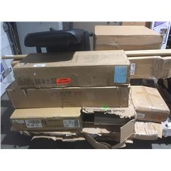 PALLET LOT OF ASSORTED BOXED FURNITURE & MISCELLANEOUS ITEMS