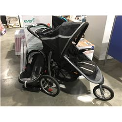 GRACO 3 WHEEL STOLLER & CAR SEAT (USED MISSING FRONT RAIL)