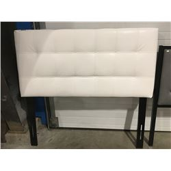 DOUBLE SIZE WHITE LEATHER UPHOLSTERED HEADBOARD