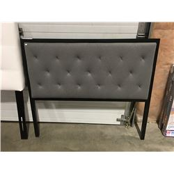 DOUBLE SIZE GREY UPHOLSTERED HEADBOARD