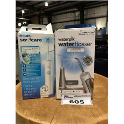 WATER PIK WATER FLOSSER & PHILIPS SONI CARE ELECTRIC TOOTH BRUSH