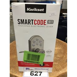 KWIKSET SMART CODE 911 TOUCH PAD ELECTRONIC LEVER KEYLESS ENTRY DOOR HANDLE