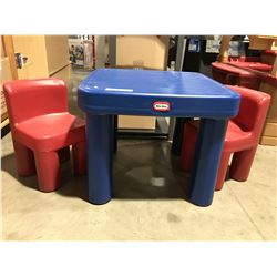 CHILDRENS LITTLE TYKE TABLE & CHAIR SET