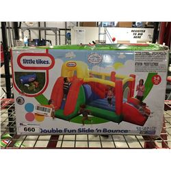 LITTLE TYKES DOUBLE FUN SLIDE & BOUNCE SET