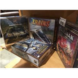 GROUP OF 4 ASSORTED FANTASY ROLL/ ADVENTURE BOARD & CARD GAMES (FACTORY SEALED)