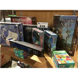 GROUP OF 11 ASSORTED FANTASY ROLL/ ADVENTURE BOARD & CARD GAMES (FACTORY SEALED)
