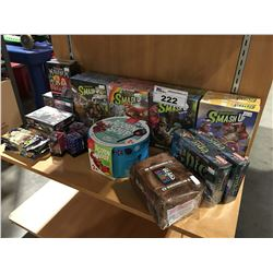 SHELF LOT OF ASSORTED FANTASY/ROLL/ADVENTURE CARD GAMES & ACCESSORIES (FACTORY SEALED)