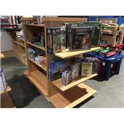 COMMERCIAL RETAIL ROLLING DISPLAY STAND WITH ADJUSTABLE SHELVES
