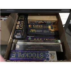 ONE BOX OF ASSORTED FANTASY/ROLL/ADVENTURE BOARD & CARD GAMES