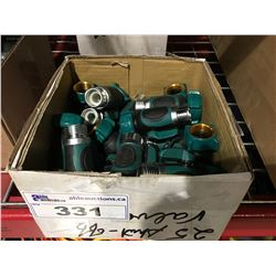 BOX OF 25 WATERLINE SHUT OFF VALVES
