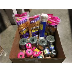 BOX OF ASSORTED ROPES & TWINE