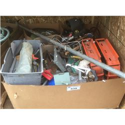 PALLET LOT OF TOOLS, HARDWARE & MISCELLANEOUS