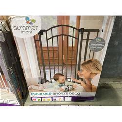 SUMMER INFANT MULTI USE BRONZE DECKO EXTRA TALL WALK THROUGH GATE