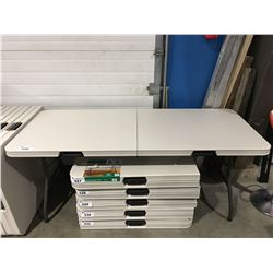 COMMERCIAL FOLD IN HALF FOLDING TABLE