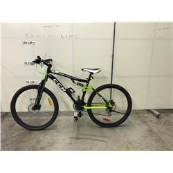 BLACK CCM SL2.0 21 SPEED, FULL SUSPENSION, FULL DISC BRAKE MOUNTAIN BIKE