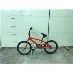 ORANGE NO-NAME SINGLE SPEED BMX BIKE