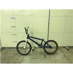 BLUE NO-NAME SINGLE SPEED BMX BIKE