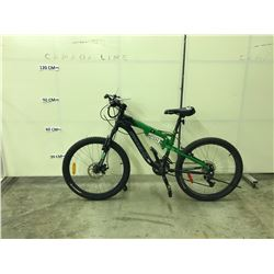 GREEN KRANKED FACTOR 21 SPEED, FULL SUSPENSION, FRONT DISC BRAKE MOUNTAIN BIKE