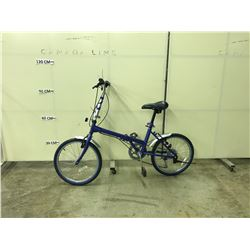 BLUE NO-NAME 6 SPEED FOLDABLE ROAD BIKE