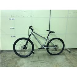 SILVER NO-NAME 24 SPEED, FRONT SUSPENSION, FULL DISC BRAKE MOUNTAIN BIKE