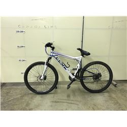 WHITE CCM APEX 24 SPEED, FULL SUSPENSION, FULL DISC BRAKE MOUNTAIN BIKE