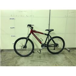 RED ROCKY MOUNTAIN VAPOR 24 SPEED, FRONT SUSPENSION, FULL DISC BRAKE MOUNTAIN BIKE