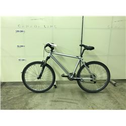 SILVER NO-NAME 21 SPEED, FRONT SUSPENSION MOUNTAIN BIKE