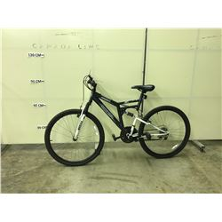 GREY NEXT CHROMIUM 18 SPEED, FULL SUSPENSION MOUNTAIN BIKE